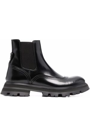 Alexander McQueen Ridged-sole ankle boots
