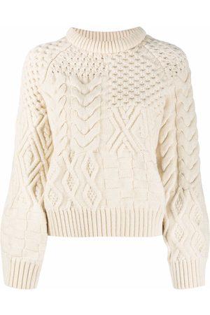 AMI AMALIA Chunky-knit roll-neck jumper