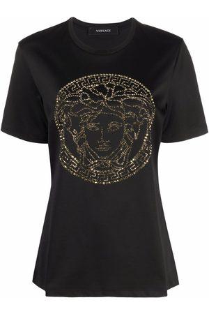 VERSACE Medusa Head crystal-embellished T-shirt