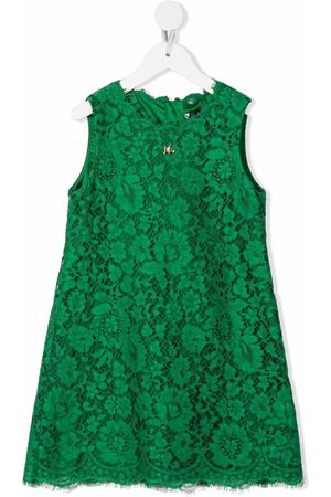 Dolce & Gabbana Lace-patterned sleeveless dress