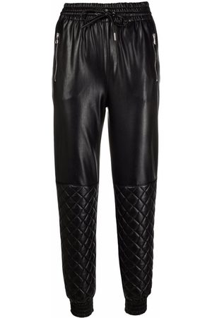 ERMANNO SCERVINO Elasticated faux-leather trousers