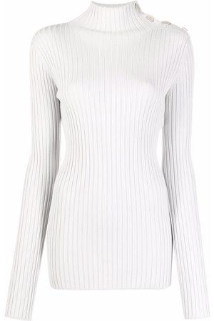 MM6 MAISON MARGIELA Button-detail ribbed jumper