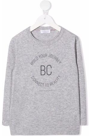 Brunello Cucinelli Logo-print cashmere T-shirt