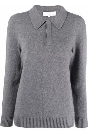 AMI AMALIA Slim-fit knit polo jumper