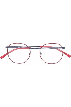 Lacoste Logo-print round-frame glasses