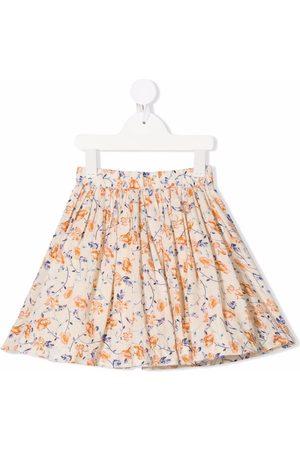 BONPOINT Floral-print flared skirt