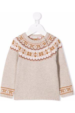 BONPOINT Intarsia-knit wool jumper