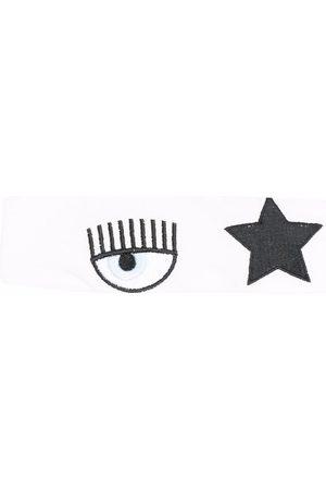Chiara Ferragni Embroidered cotton headband