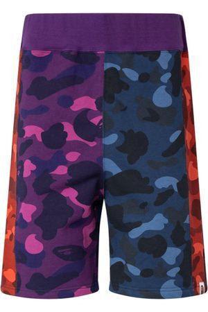 A Bathing Ape Colour Camo Sweat shorts