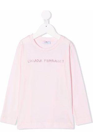 Chiara Ferragni Rhinestone-logo cotton T-shirt