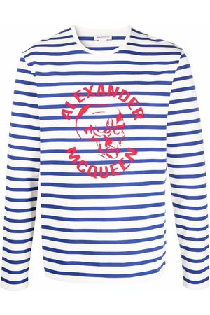Alexander McQueen Logo-print striped jumper