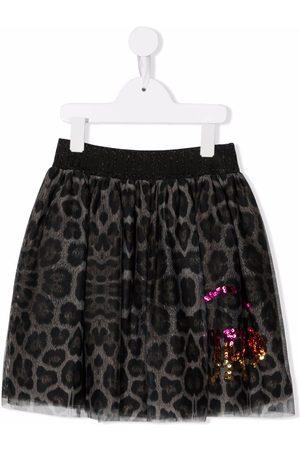 John Richmond Junior Leopard-print tulle skirt