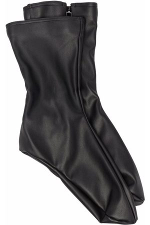 Wolford X Amina Muaddi vegan leather crew-length socks