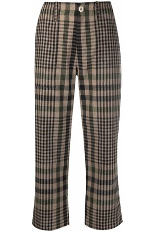 JEJIA Cropped check trousers