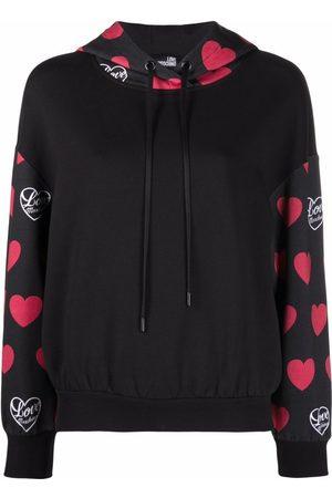 Love Moschino Heart-logo print hoodie