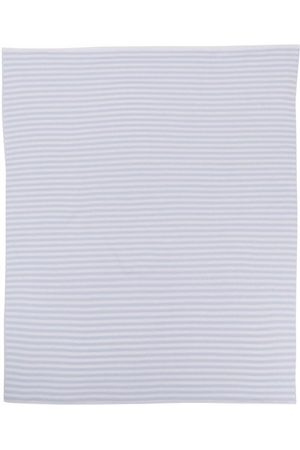 LITTLE BEAR Striped virgin wool blanket