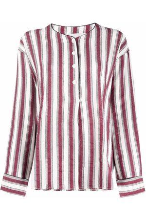 Les Coyotes de Paris Striped long-sleeve shirt