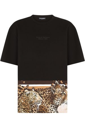 Dolce & Gabbana Leopard-hem logo T-shirt