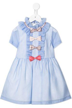 HUCKLEBONES LONDON Multi-bow mini dress
