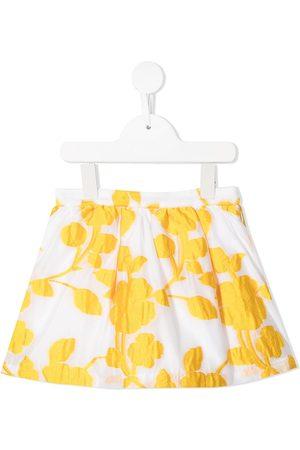 HUCKLEBONES LONDON Floral-embroidered gathered skirt