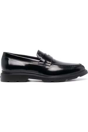 Hogan Almond-toe leather loafers