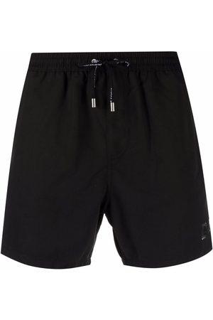 Balmain Side logo-print swim shorts
