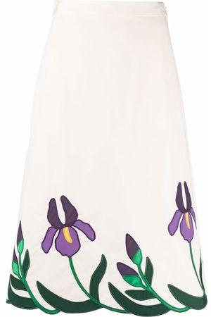 Tory Burch Floral midi skirt
