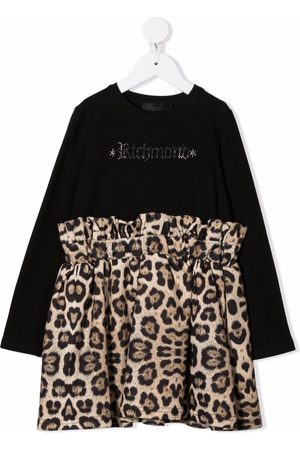 John Richmond Junior Leopard-panel dress