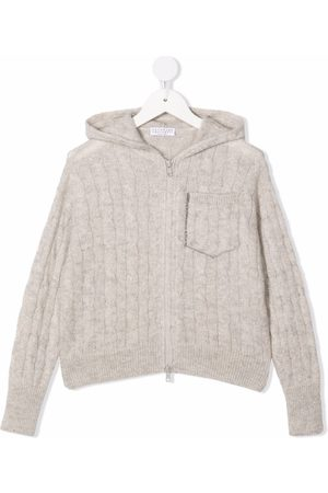 Brunello Cucinelli Cable-knit hoodie
