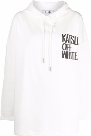 OFF-WHITE X KATSU print relaxed-fit hoodie