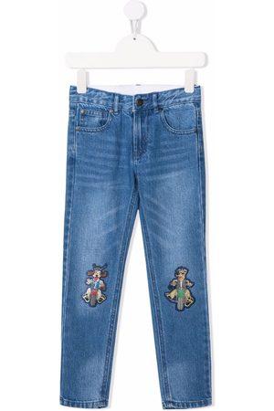 Stella McCartney Cartoon-patch straight-leg jeans