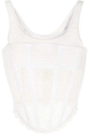 DION LEE Mesh corset top