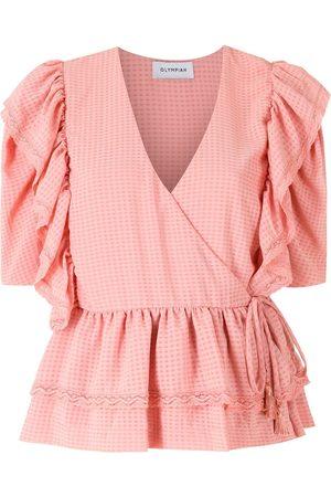 Olympiah Miazi ruffled blouse