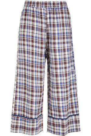 Olympiah Picnic cropped wide-leg trousers
