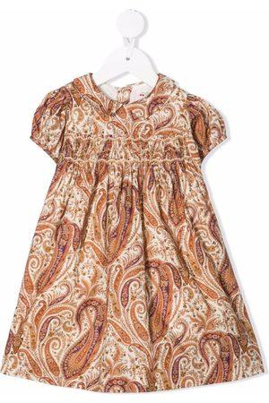 BONPOINT Paisley-print smocked-waist dress