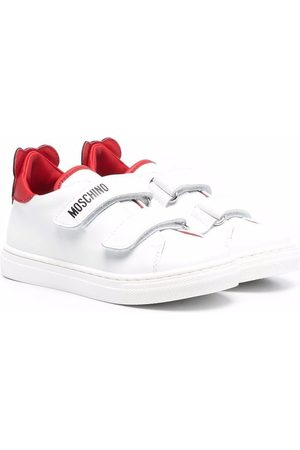 Moschino Teddy Bear-motif leather sneakers