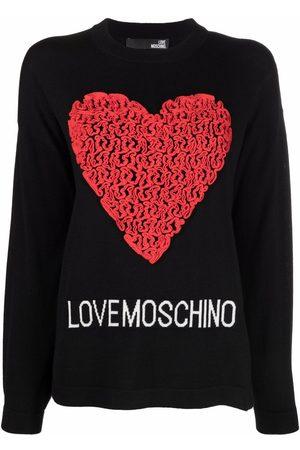 Love Moschino Heart-appliquéd jumper