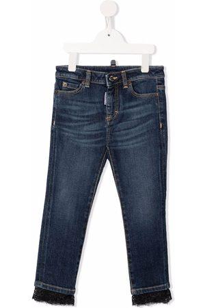 Dsquared2 Lace trim slim fit jeans