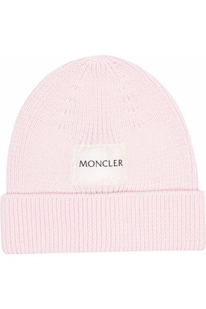 Moncler Ribbed logo-patch beanie