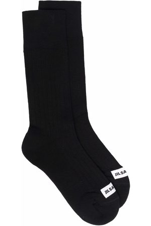 Jil Sander Logo-patch socks