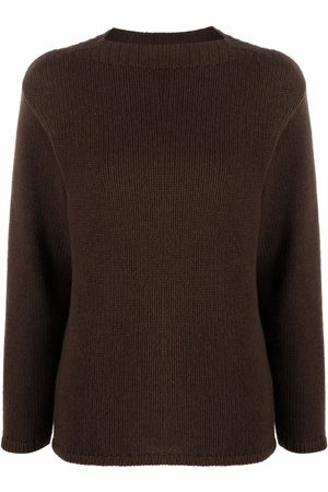 LISKA Ribbed-trim cashmere jumper
