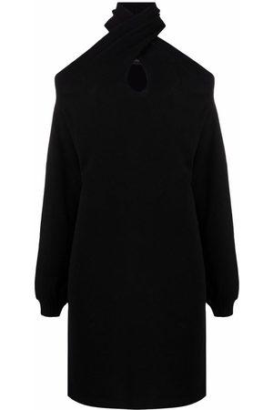FEDERICA TOSI Cold-shoulder knit dress