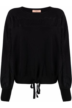 Twin-Set Lace-detail knitted jumper