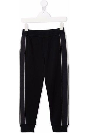 Emporio Armani Side-stripe cotton-blend track pants