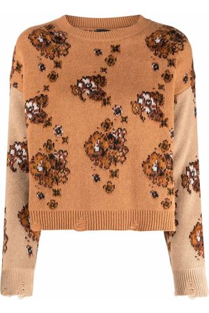 Pinko Floral-print knitted jumper