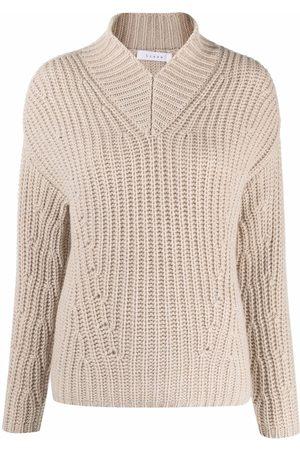 LISKA Ribbed-knit cashmere jumper