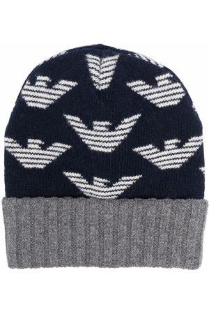Emporio Armani Intarsia-knit logo beanie