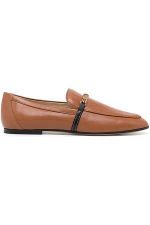 Tod's Strap detail logo loafers