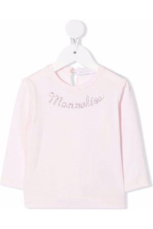 MONNALISA Logo-embellished long-sleeve T-shirt