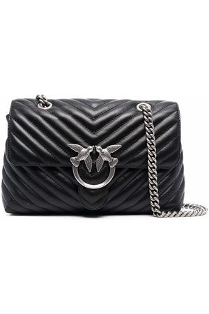 Pinko Quilted leather satchel bag